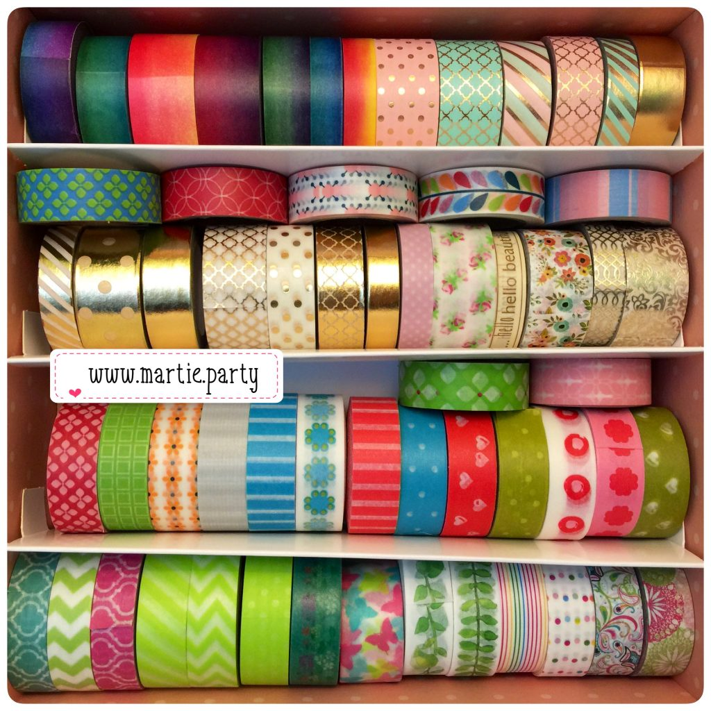 Washi tape in a box.