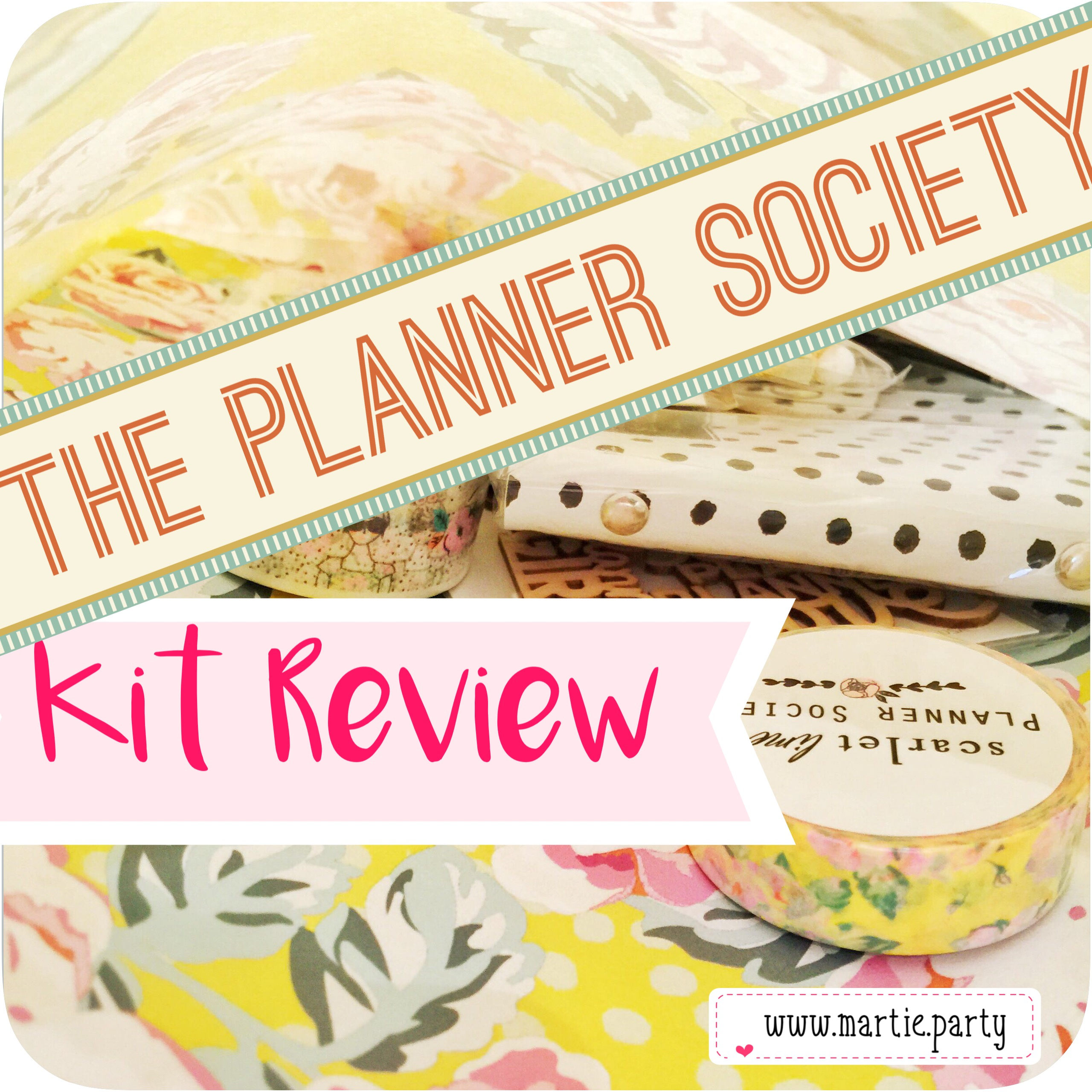 The Planner Society Kit Review header image.